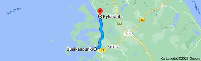 Kartta Uusikaupunki, 23500–Pyhäranta