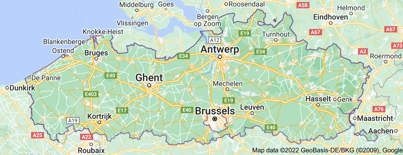 Location of Flemish Region