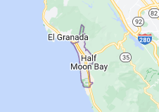 Map of Half Moon Bay California