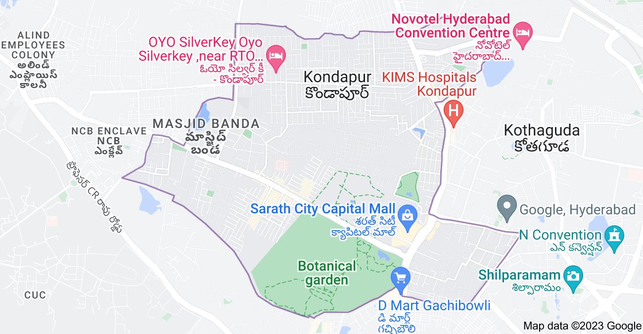 Map of Kondapur, Telangana, India