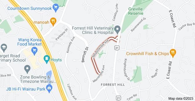 Location of Meadowvale Avenue