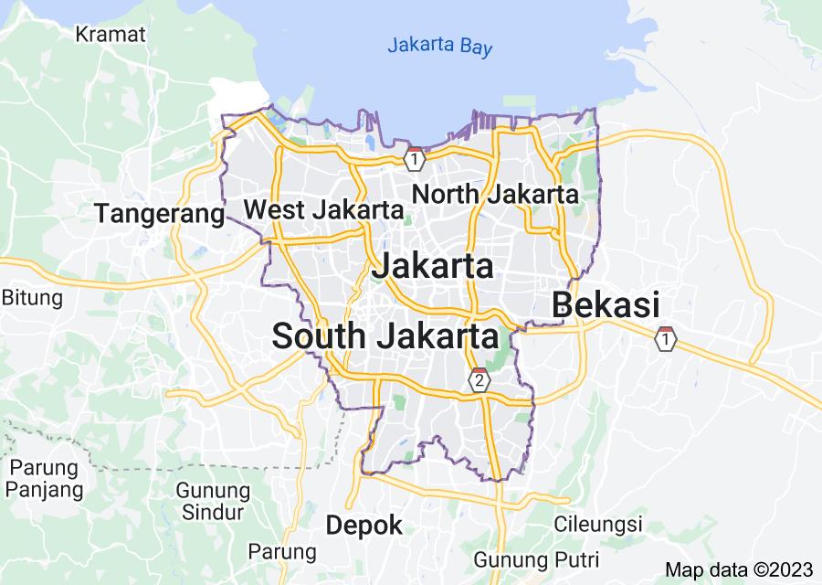 Location of Jakarta