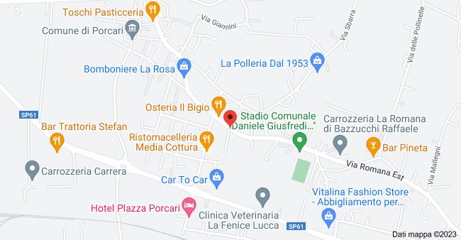 Mappa di: Via Romana Est, 78, 55016 Porcari LU