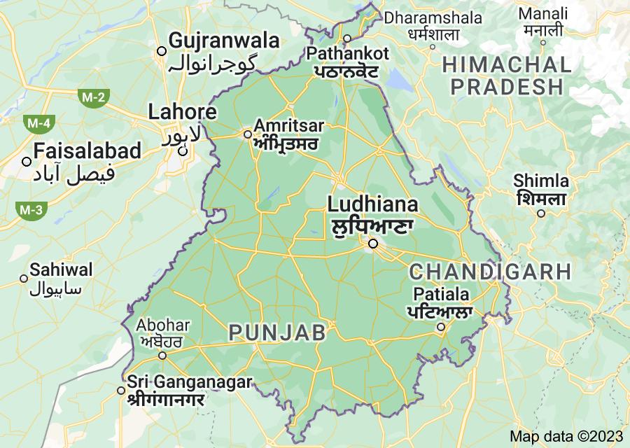 Location of Punjab