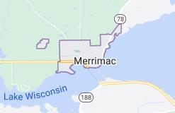 Map of Merrimac Wisconsin
