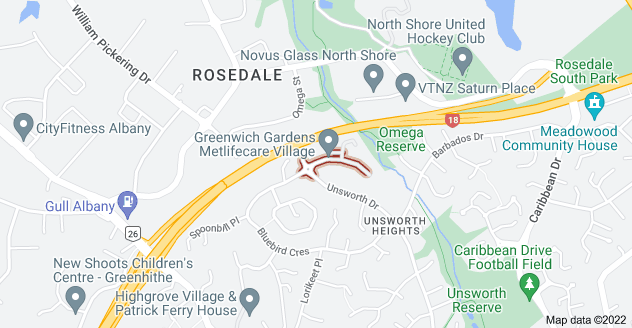 Location of Greenwich Way