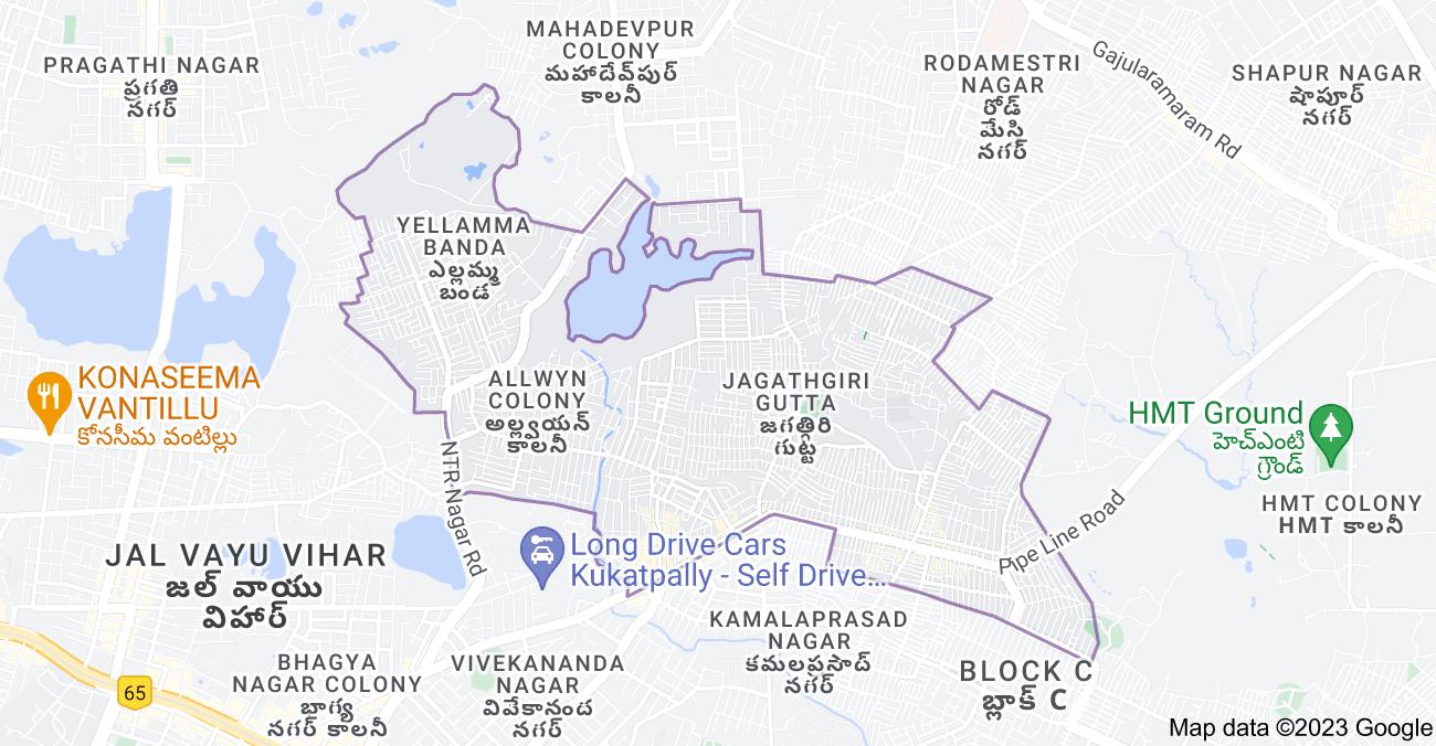 Map of Jagathgiri Gutta, Hyderabad, Telangana, India