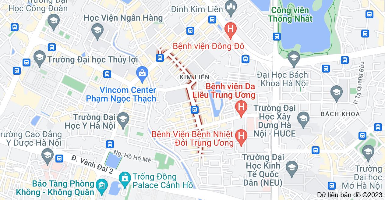 Bản đồ của Phố Lương Định Của, Đống Đa, Hà Nội