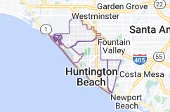 Map of Huntington Beach