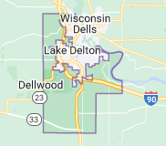 Map of Delton Wisconsin