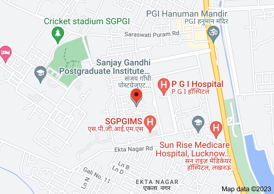 Location of Sanjay Gandhi Postgraduate Institute of Medical Sciences