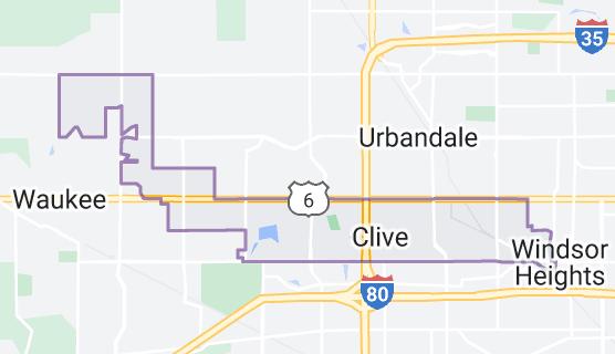 Iowa, Mapa de Clive