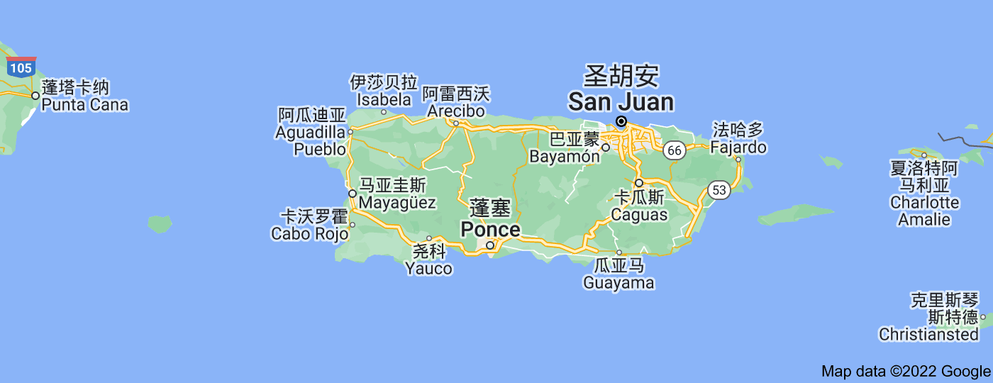 Location of 波多黎各