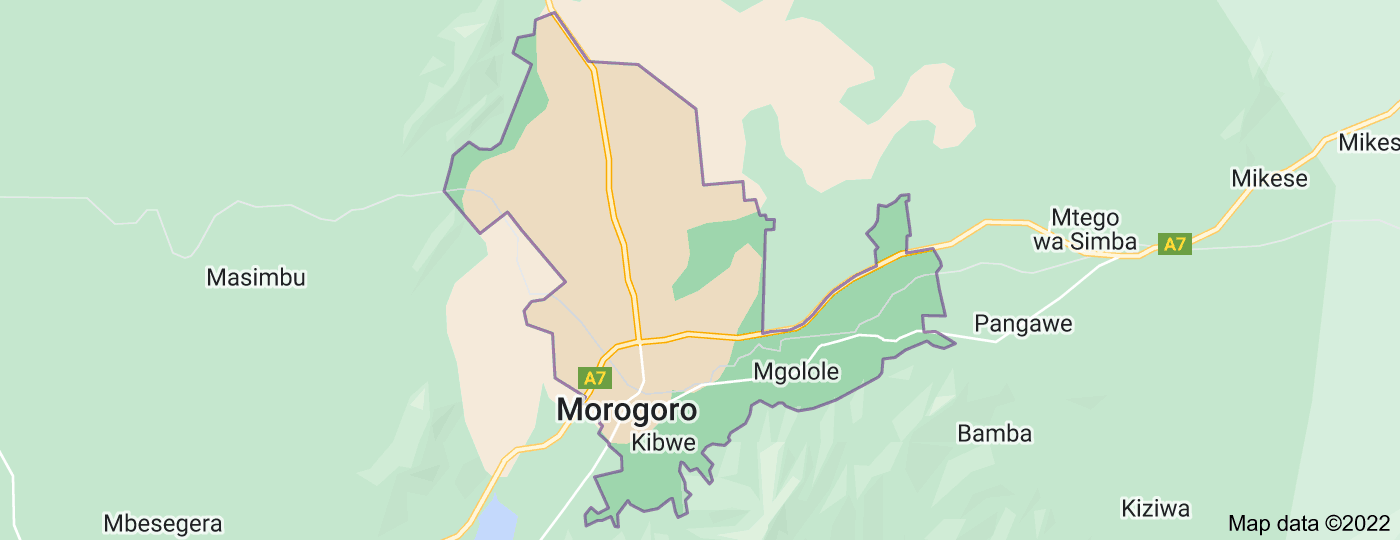Location of Morogoro