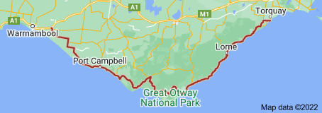 Map of Great Ocean Road