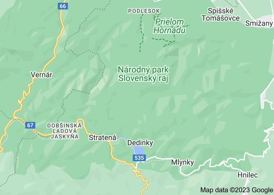 Location of Slovak Paradise