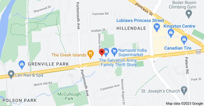 Map of 277 Bath Rd, Kingston, ON K7M 2X6