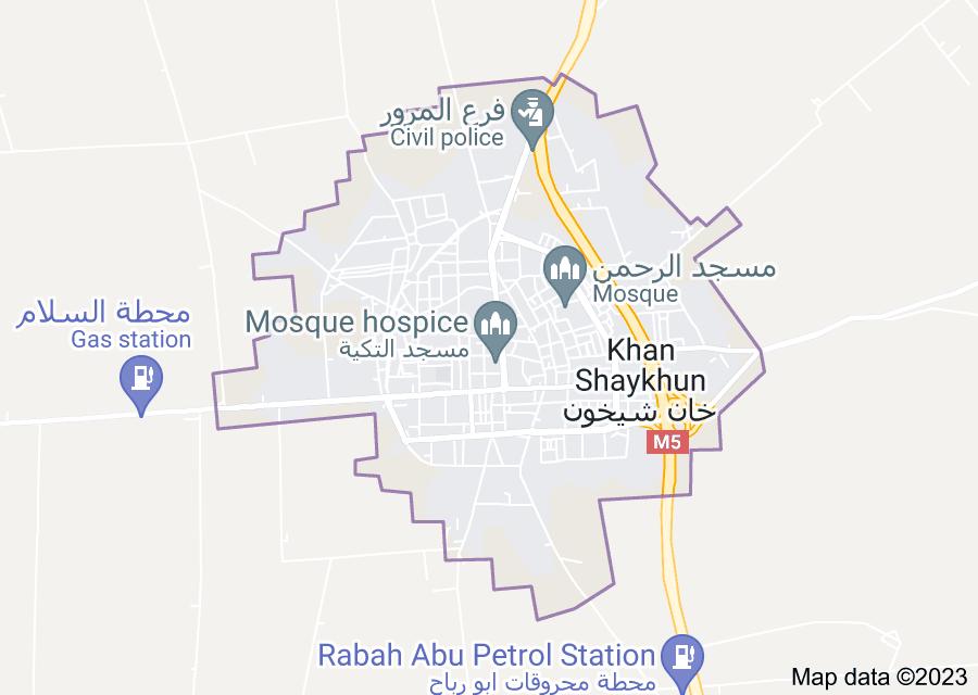 Location of Khan Shaykhun