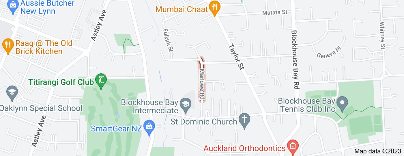 Location of Marlowe Road