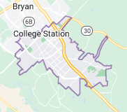 Map of College Station