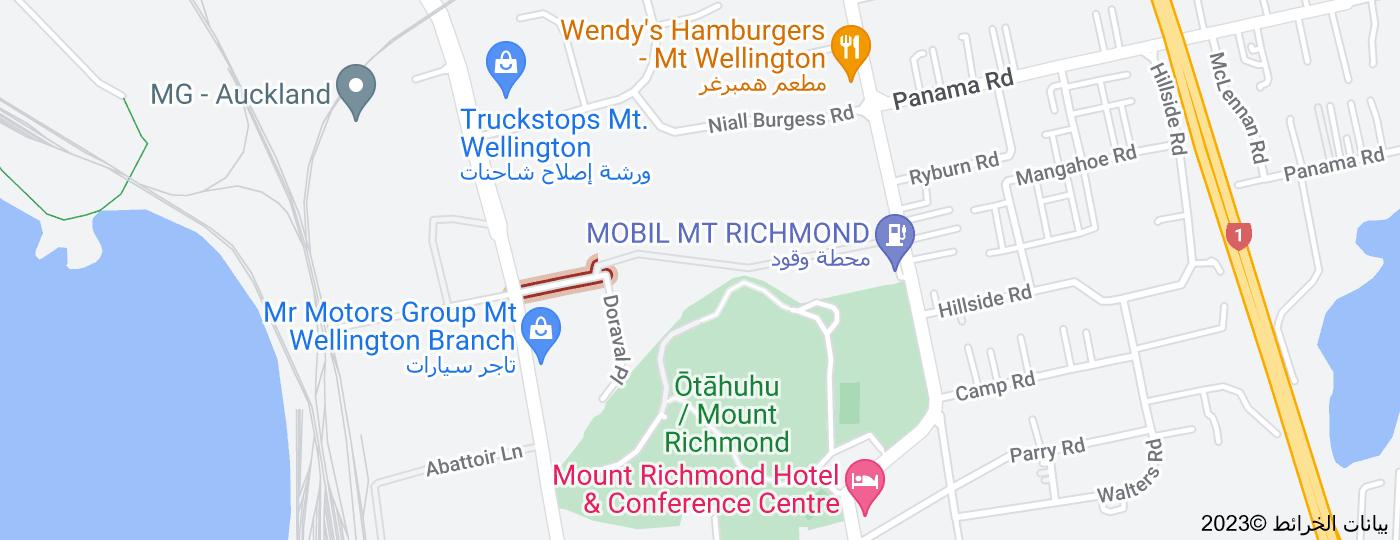 Location of Mount Richmond Drive