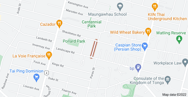 Location of Whitworth Road