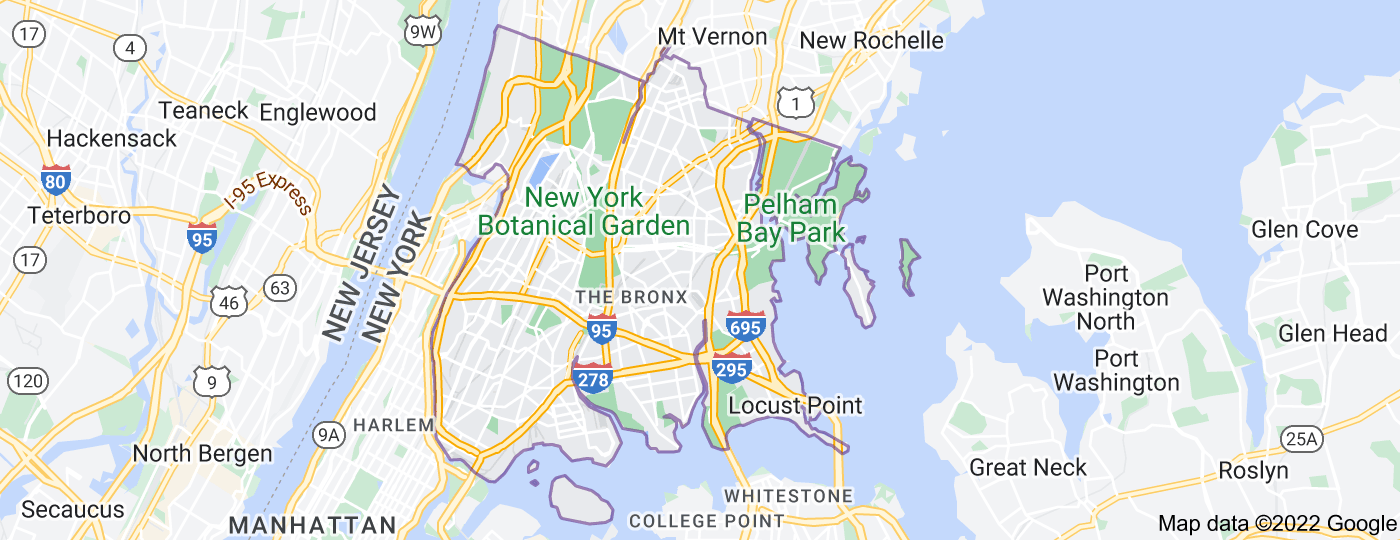 Location of The Bronx