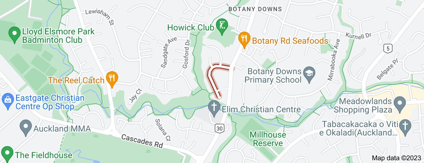Location of Pinewood Grove