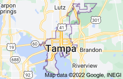 Map of Tampa, Florida