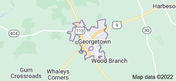 Map of Georgetown, Delaware