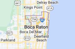 Map of Boca Raton