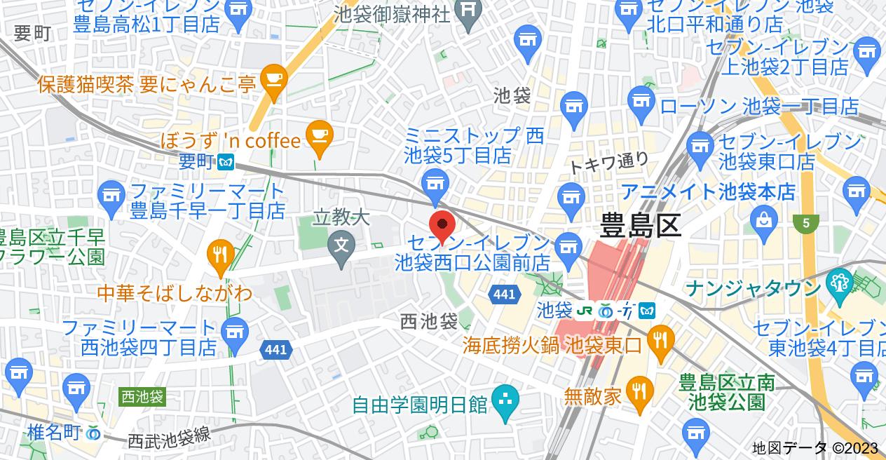 〒171-0021 東京都豊島区西池袋3丁目31−5 池袋パークハイムウエストの地図