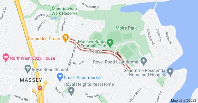 Location of Granville Drive