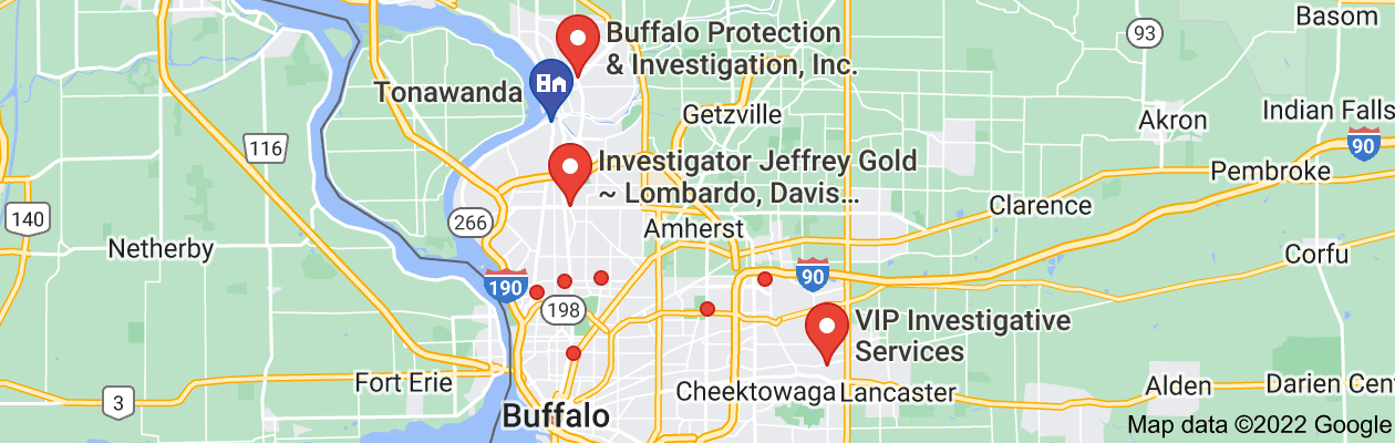 Map of private investigator tonawanda ny