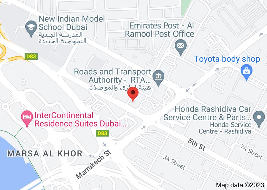 Location of Zayed Housing Dubai -