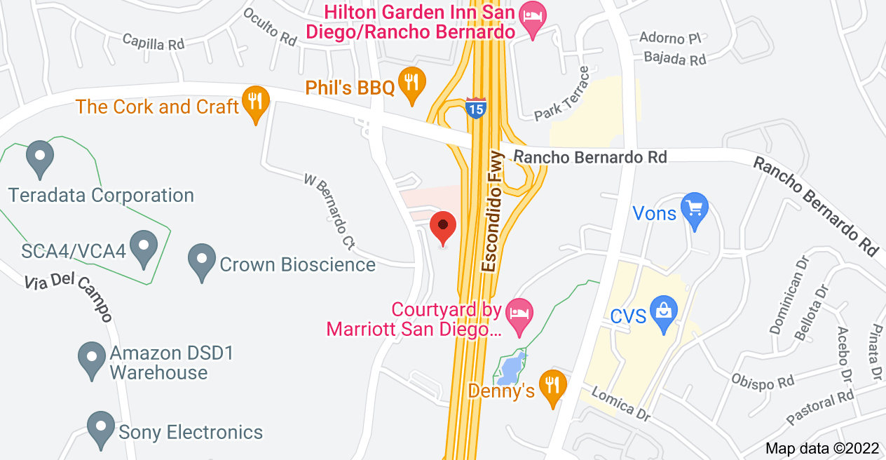 Map of 16885 W Bernardo Dr, San Diego, CA 92127