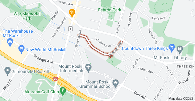 Location of Bremner Avenue