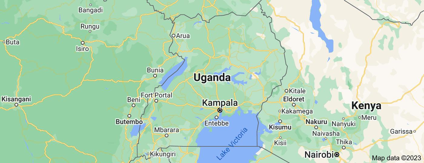 Location of Uganda