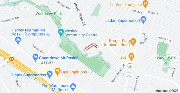 Location of Mayn Avenue