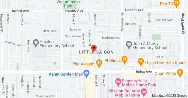 Map of 14861 Moran St B, Westminster, CA 92683, USA