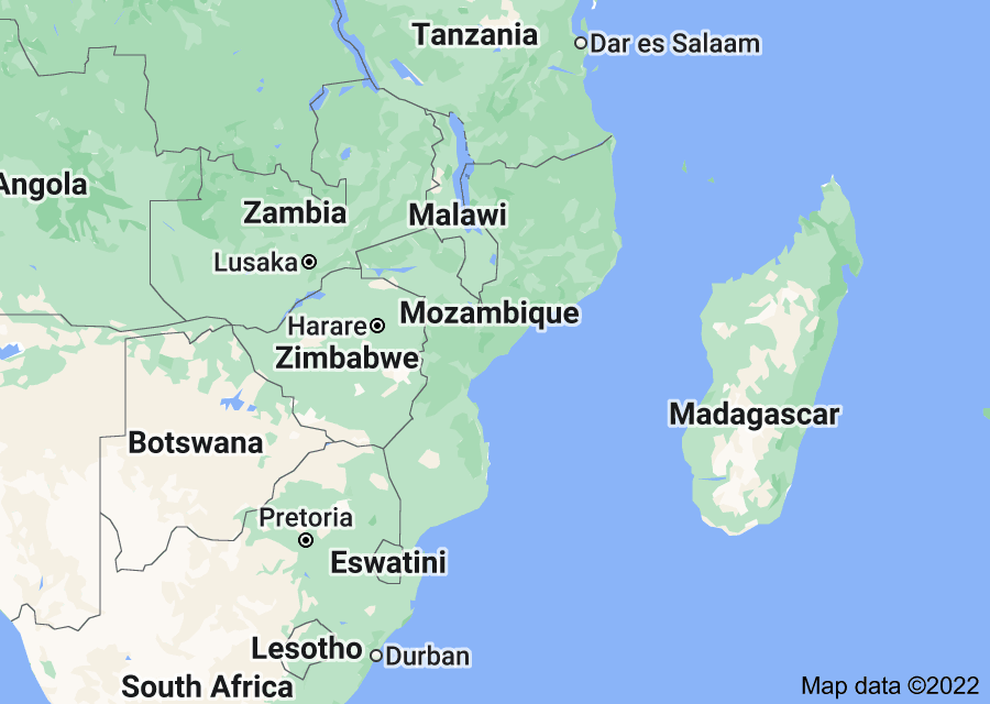 Location of Mozambique
