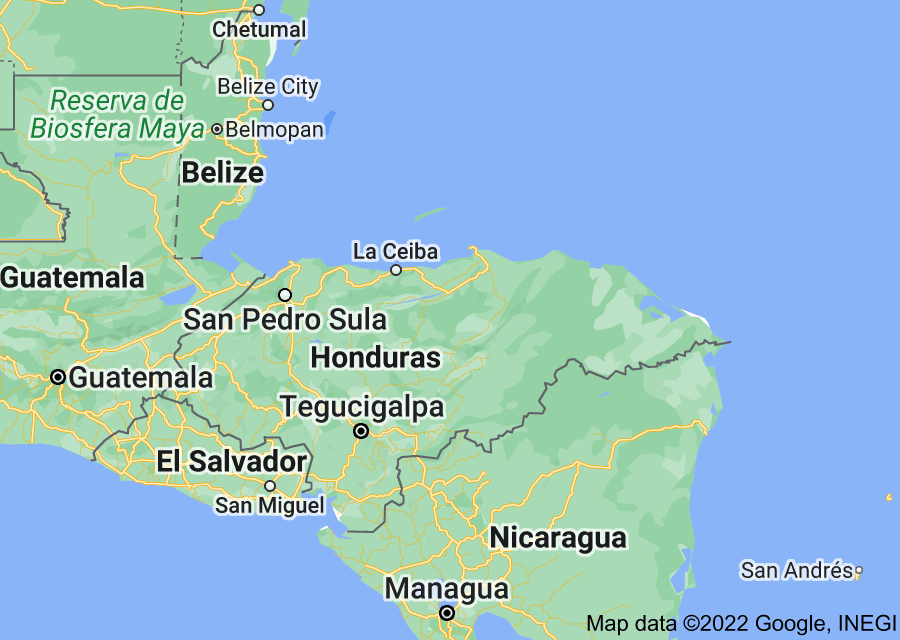 Location of Honduras