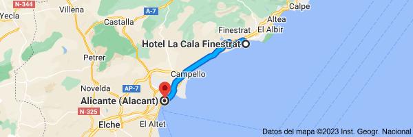 Mapa de Hotel La Cala, Av. de la Marina Baixa, 10, 03509 Cala de Finestrat, Alicante a Alicante