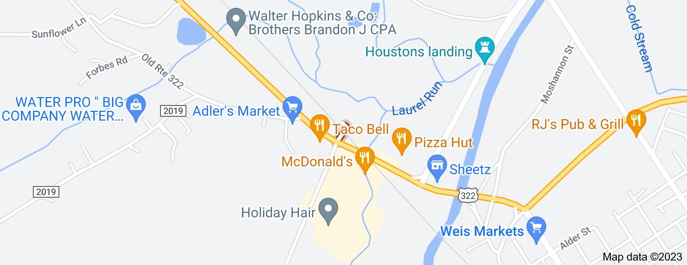 Location of Irwin Dr Exd