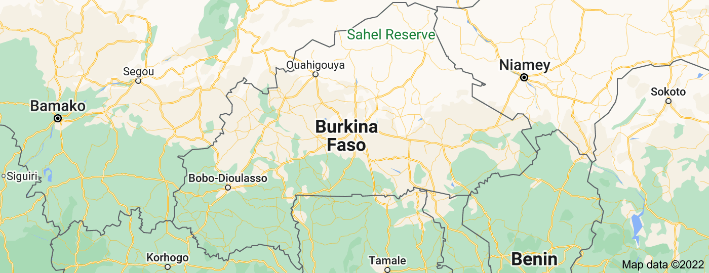 Location of Burkina Faso