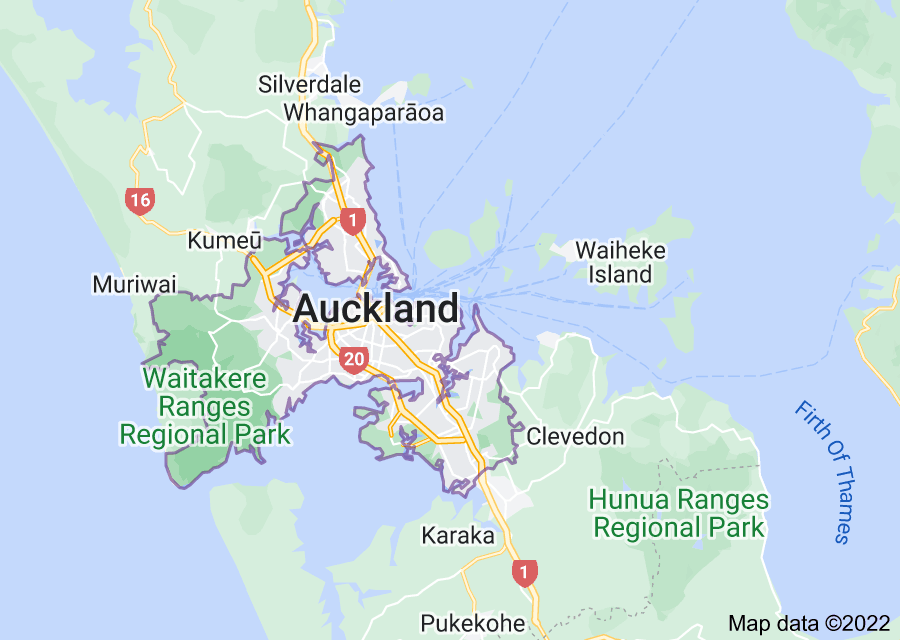 Location of Auckland