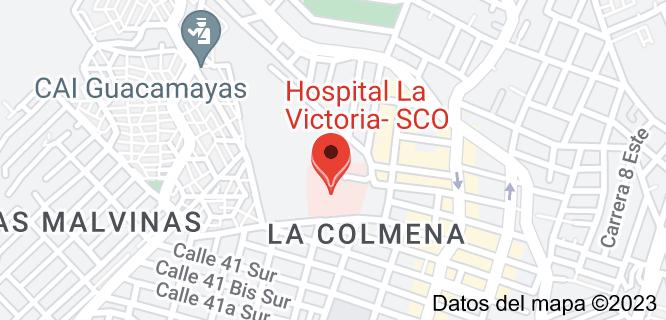 Mapa de Hospital La Victoria