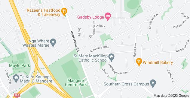 Location of Cranmere Crescent