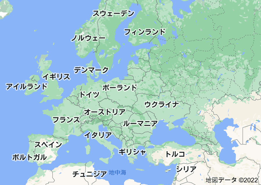 Location of ヨーロッパ