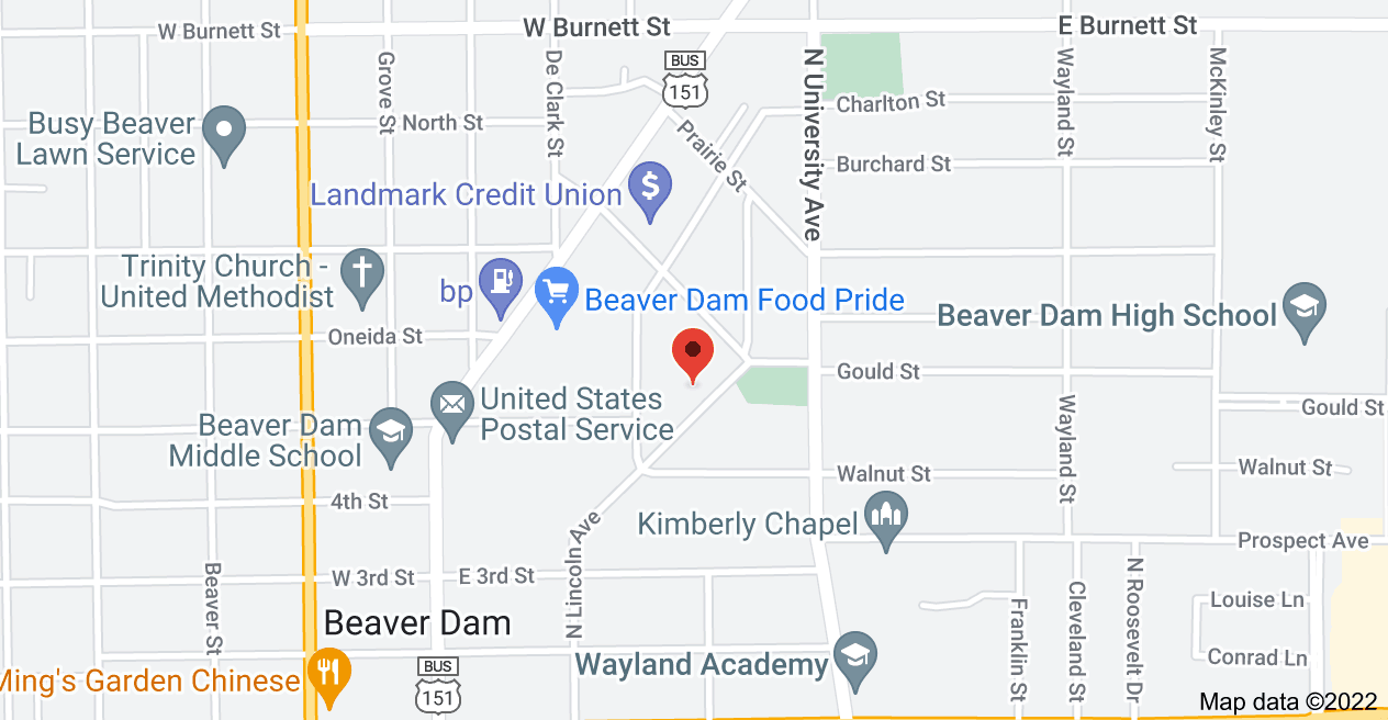 Map of 422 N Lincoln Ave, Beaver Dam, WI 53916